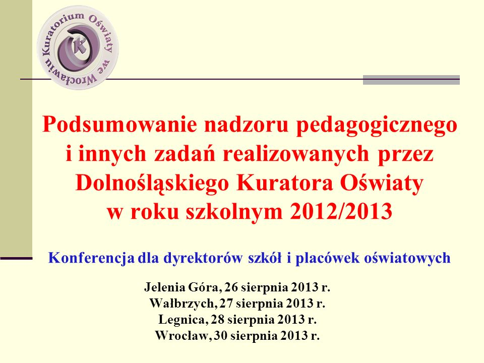 Jelenia Góra, 26 sierpnia 2013 r.