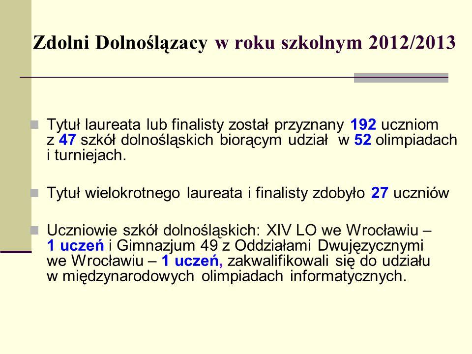 Zdolni Dolnoślązacy w roku szkolnym 2012/2013