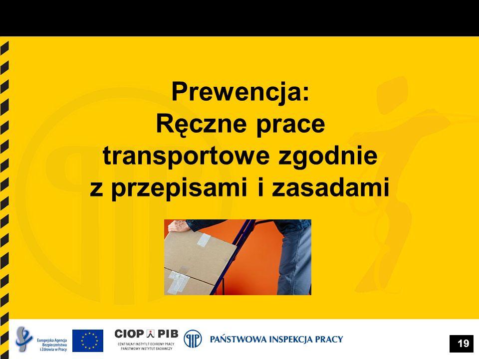 Prewencja: Ręczne prace transportowe zgodnie z przepisami i zasadami