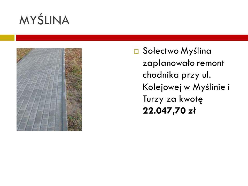 MYŚLINA Sołectwo Myślina zaplanowało remont chodnika przy ul.