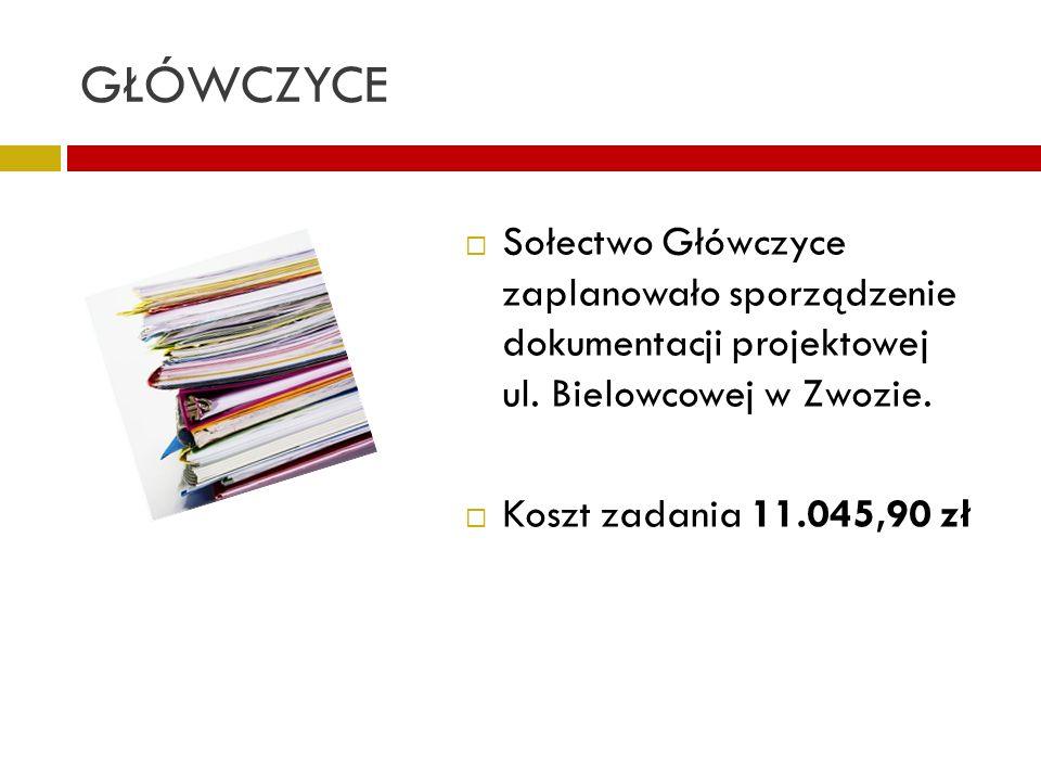 GŁÓWCZYCE Sołectwo Główczyce zaplanowało sporządzenie dokumentacji projektowej ul. Bielowcowej w Zwozie.