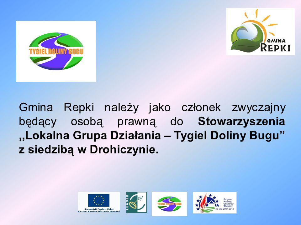 Gmina Repki należy jako członek zwyczajny będący osobą prawną do Stowarzyszenia ,,Lokalna Grupa Działania – Tygiel Doliny Bugu z siedzibą w Drohiczynie.