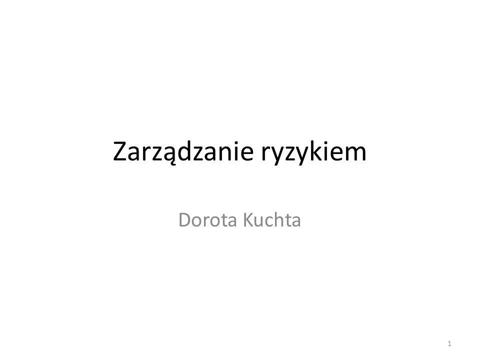 Zarządzanie ryzykiem Dorota Kuchta
