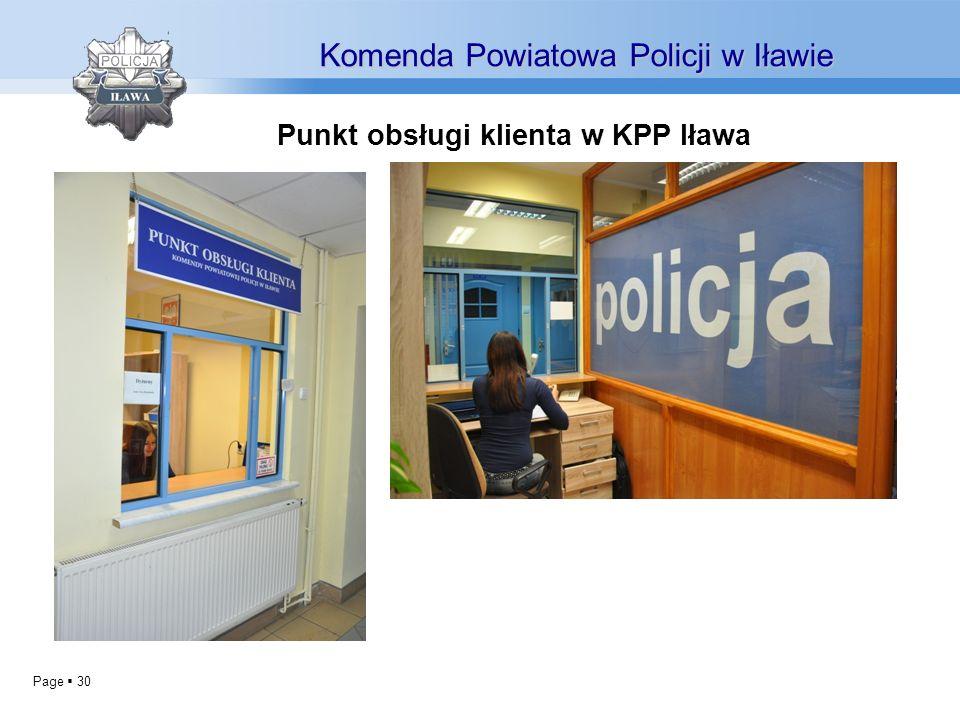 Punkt obsługi klienta w KPP Iława