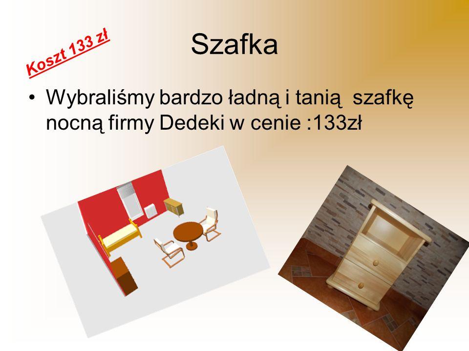 Szafka Koszt 133 zł Wybraliśmy bardzo ładną i tanią szafkę nocną firmy Dedeki w cenie :133zł