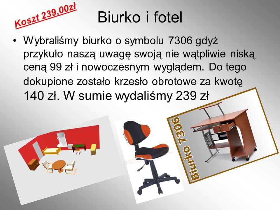 Koszt 239,00zł Biurko i fotel.