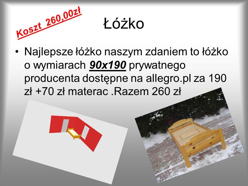 Łóżko Koszt 260,00zł.