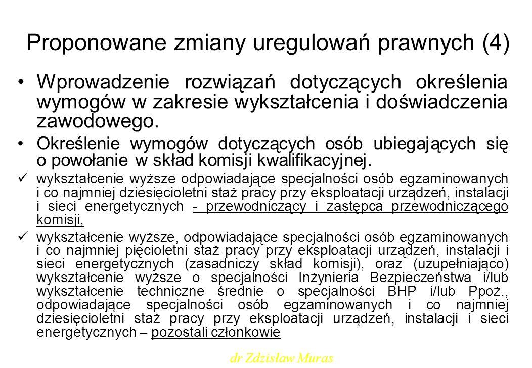 Proponowane zmiany uregulowań prawnych (4)