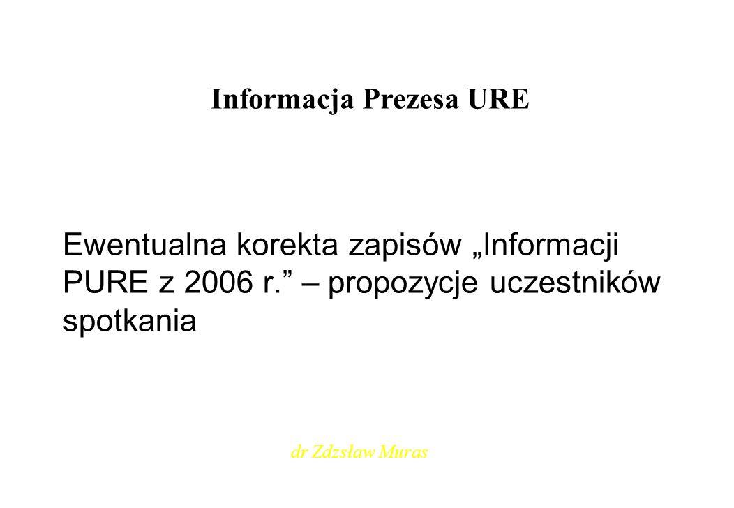 Informacja Prezesa URE