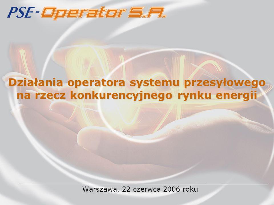 Działania operatora systemu przesyłowego na rzecz konkurencyjnego rynku energii