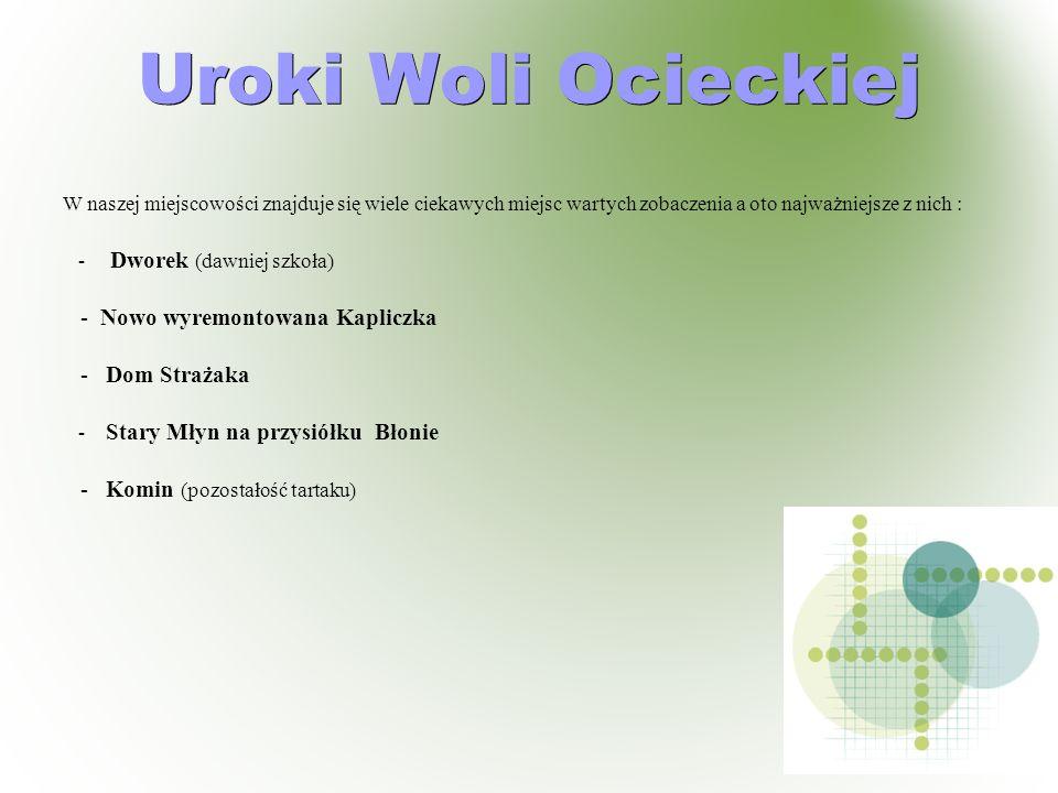 Uroki Woli Ocieckiej - Nowo wyremontowana Kapliczka - Dom Strażaka