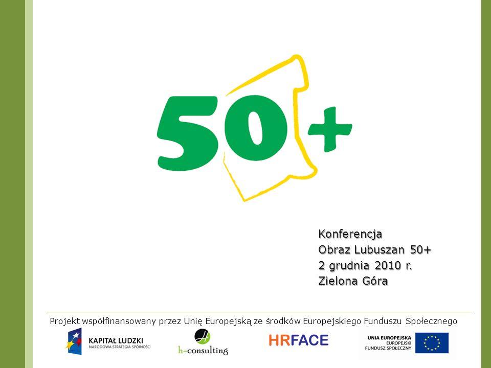 Konferencja Obraz Lubuszan 50+ 2 grudnia 2010 r. Zielona Góra