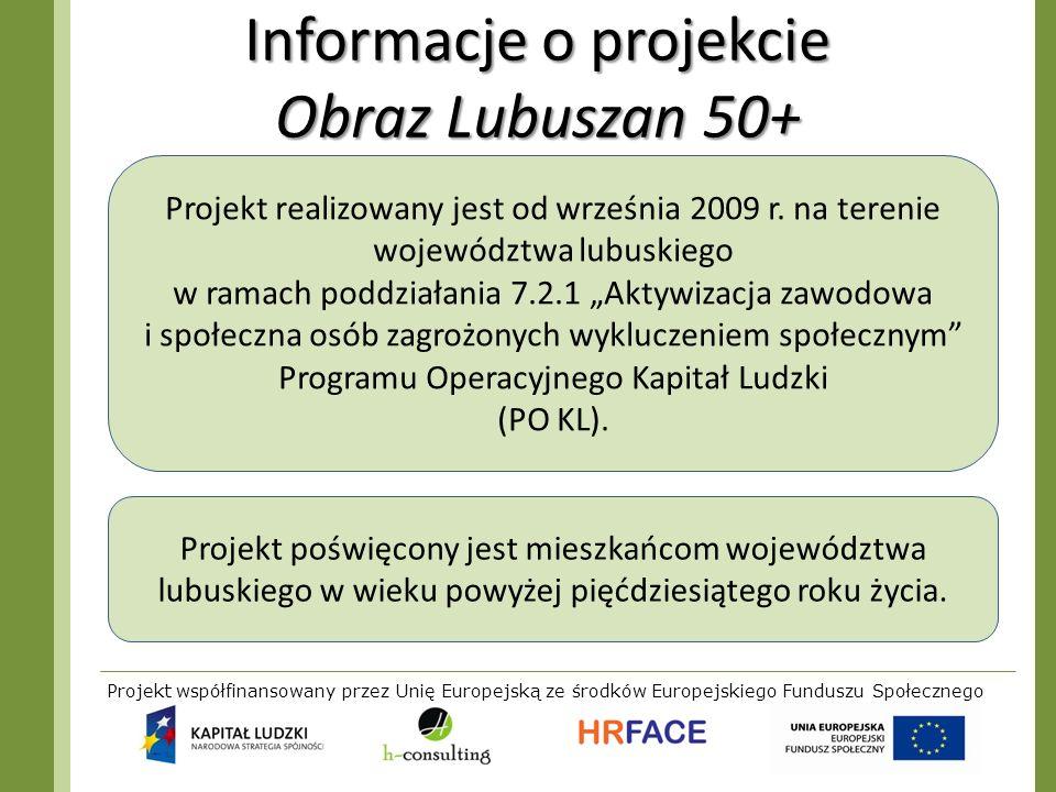 Informacje o projekcie Obraz Lubuszan 50+