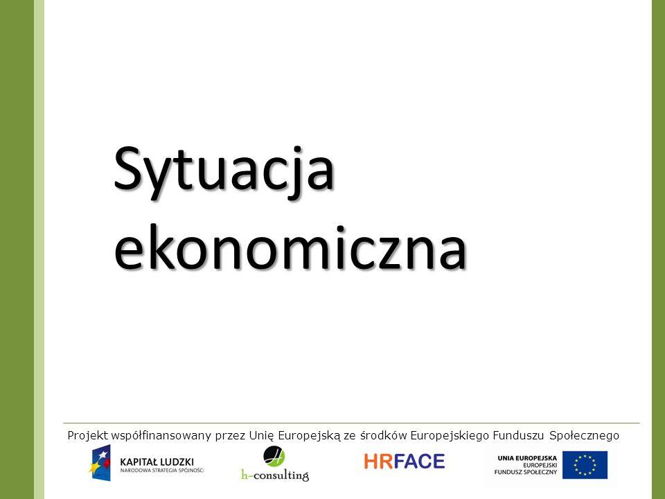 Sytuacja ekonomiczna Projekt współfinansowany przez Unię Europejską ze środków Europejskiego Funduszu Społecznego.