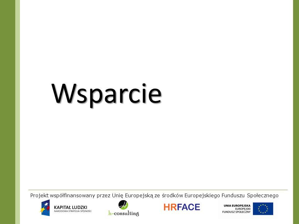 WsparcieProjekt współfinansowany przez Unię Europejską ze środków Europejskiego Funduszu Społecznego.