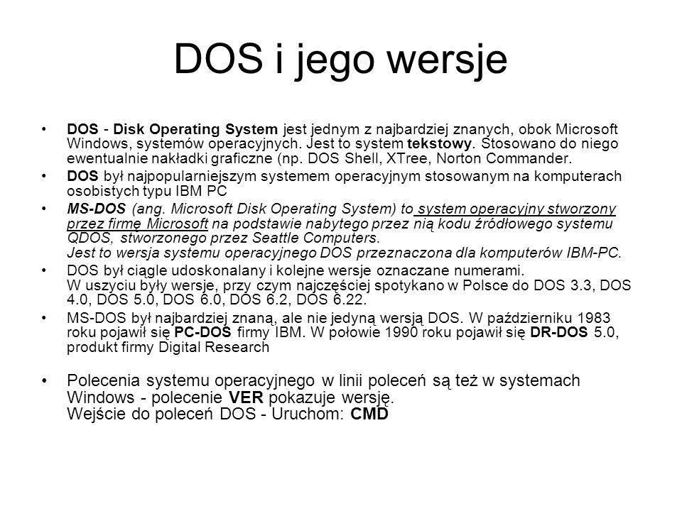 DOS i jego wersje