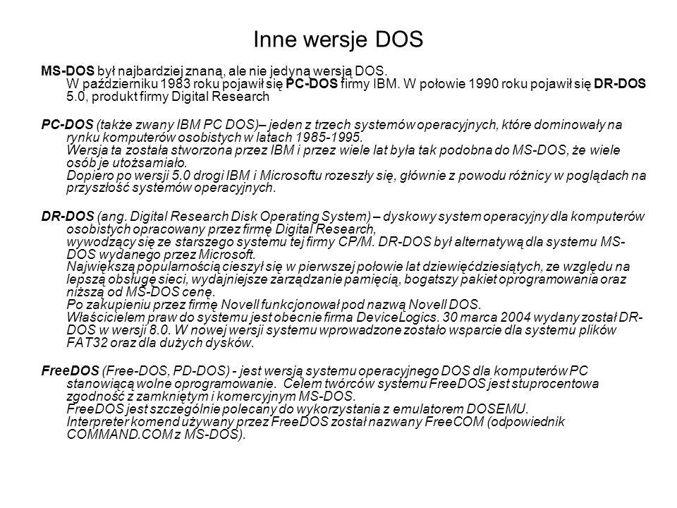 Inne wersje DOS