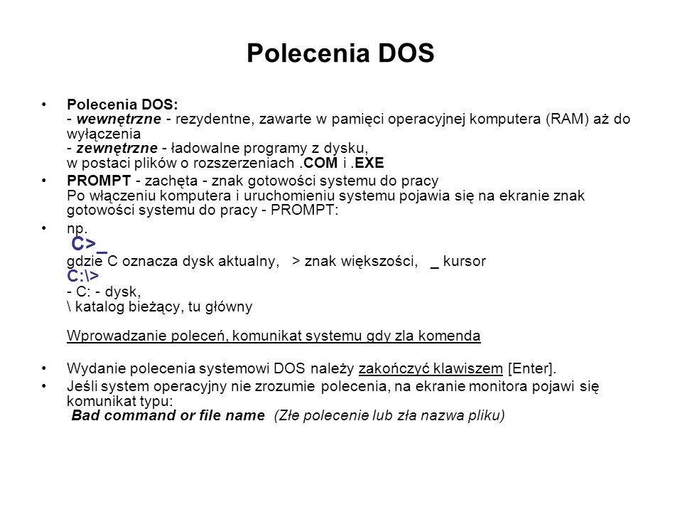 Polecenia DOS