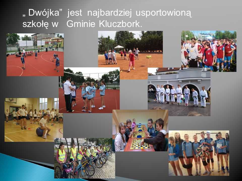 """"""" Dwójka jest najbardziej usportowioną szkołę w Gminie Kluczbork."""