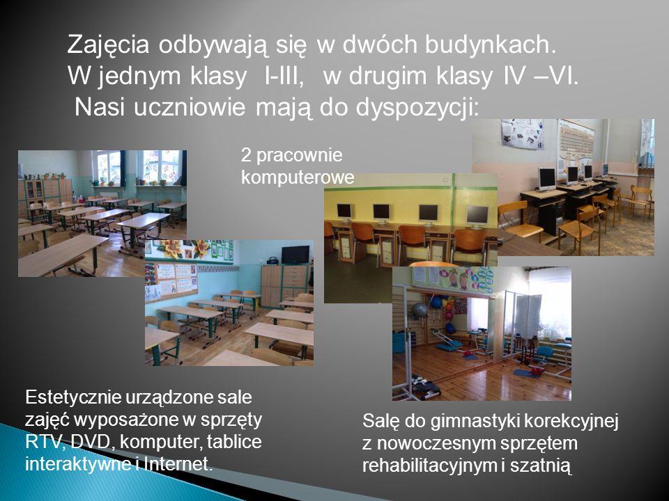 Zajęcia odbywają się w dwóch budynkach.