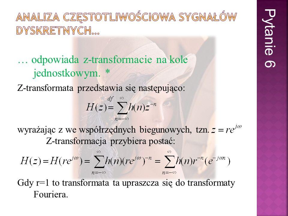 Analiza częstotliwościowa sygnałów dyskretnych…