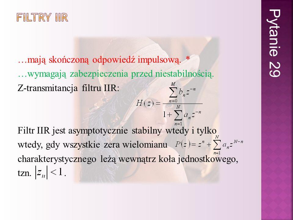 Pytanie 29 Filtry iir.