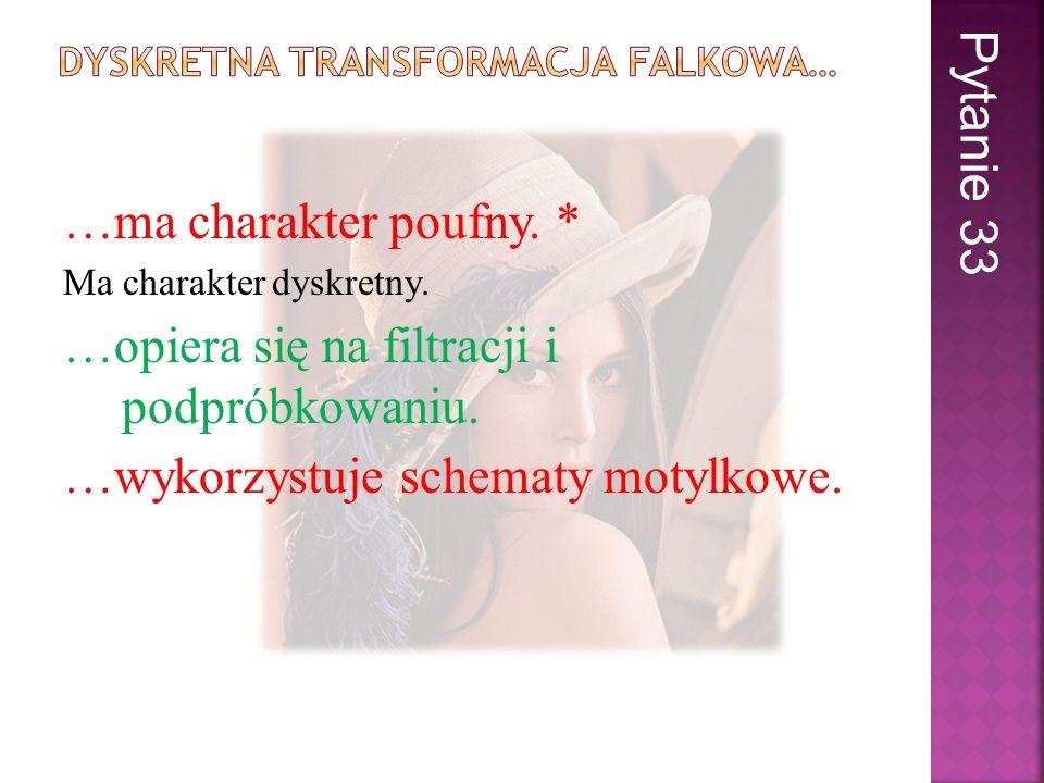 Dyskretna transformacja Falkowa…