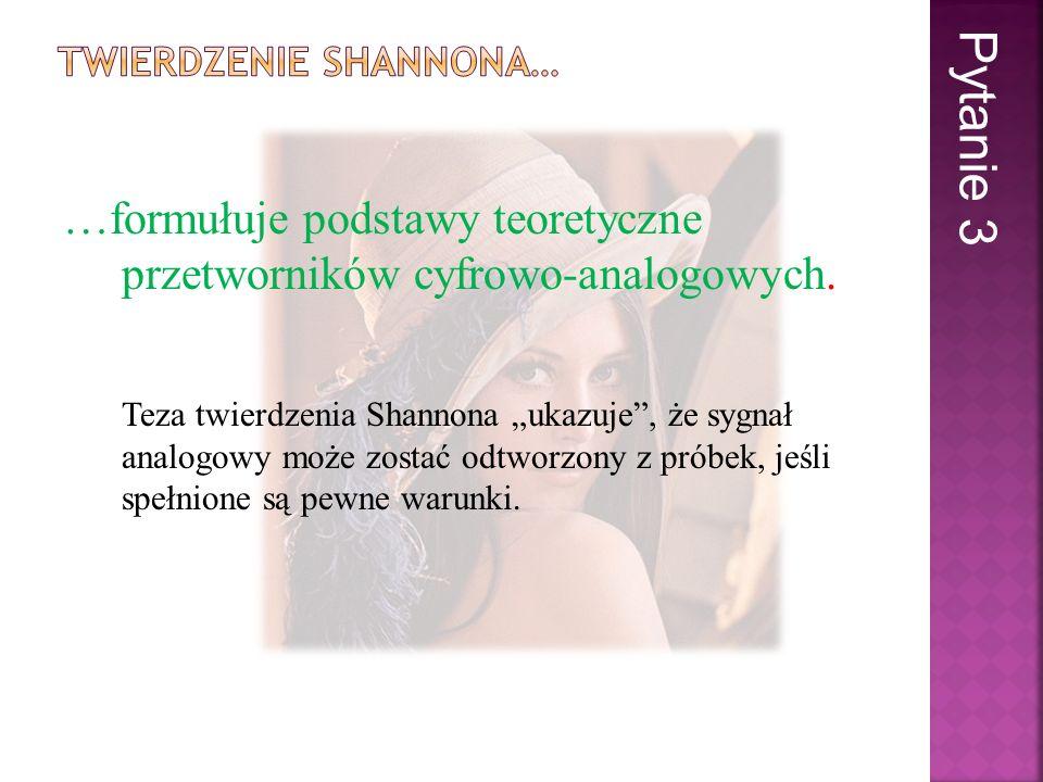 Twierdzenie Shannona…