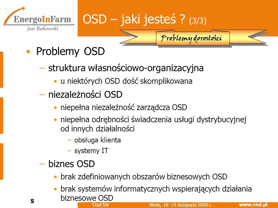 OSD – jaki jesteś (3/3) Problemy OSD