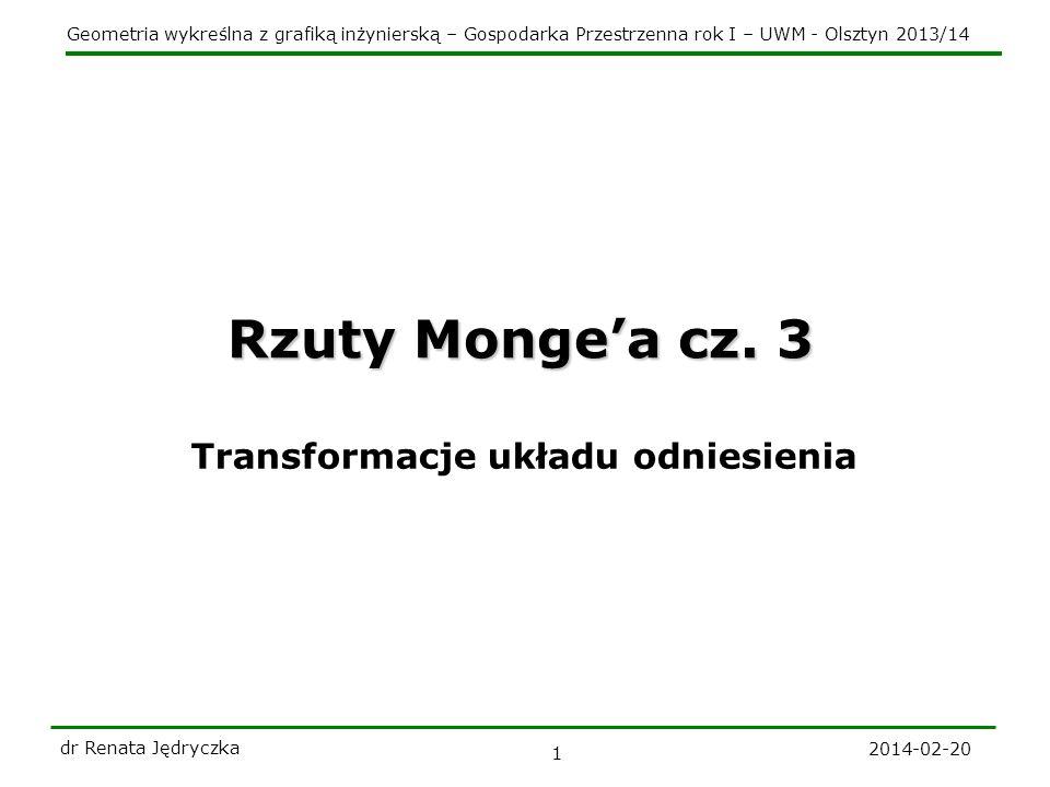 Rzuty Monge'a cz. 3 Transformacje układu odniesienia