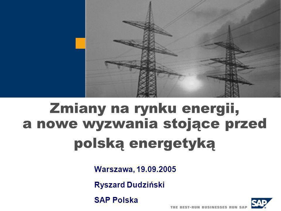 Warszawa, 19.09.2005 Ryszard Dudziński SAP Polska