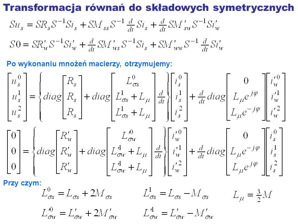 Transformacja równań do składowych symetrycznych