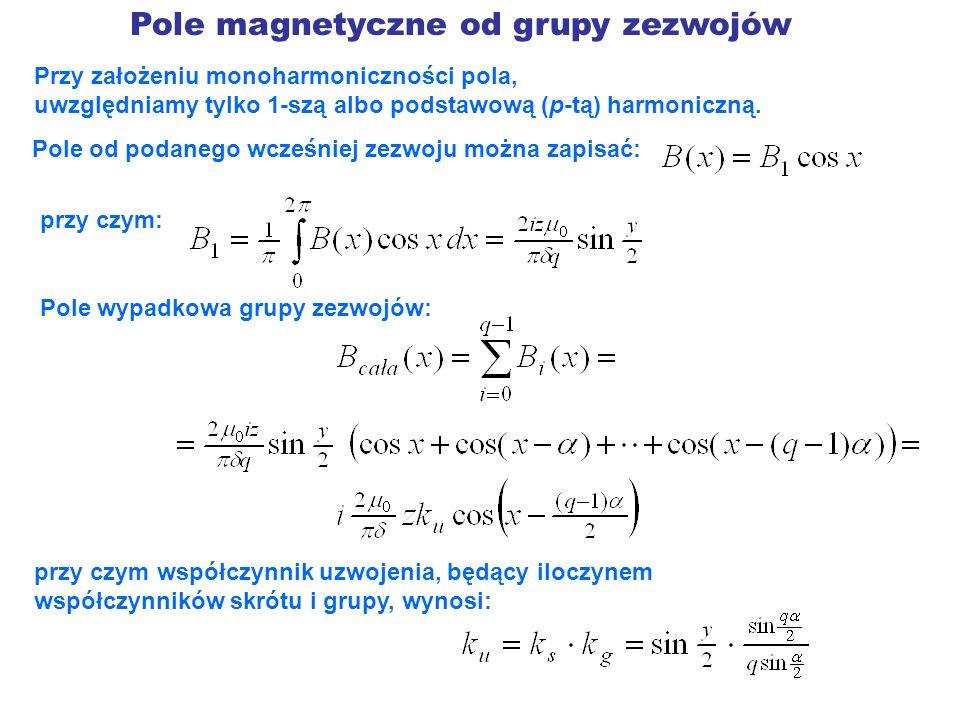 Pole magnetyczne od grupy zezwojów