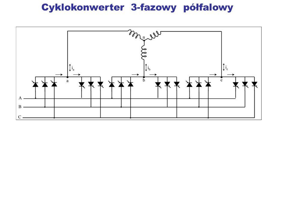 Cyklokonwerter 3-fazowy półfalowy