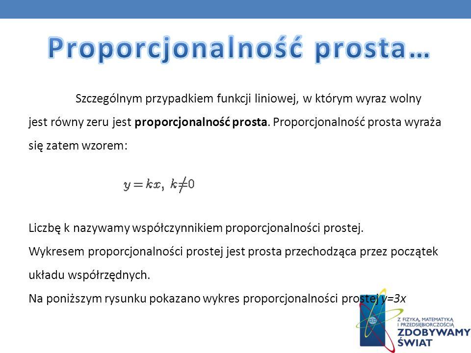 Proporcjonalność prosta…