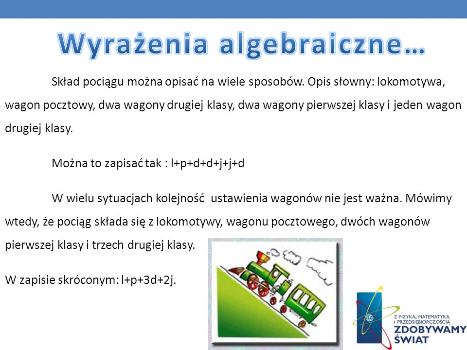 Wyrażenia algebraiczne…