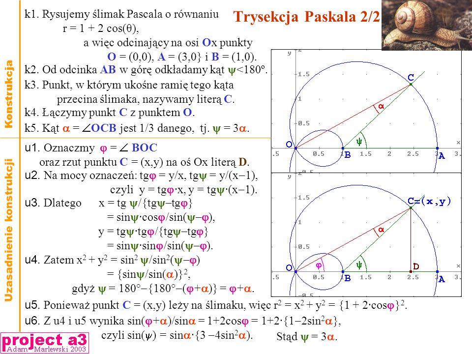 Trysekcja Paskala 2/2 k1. Rysujemy ślimak Pascala o równaniu
