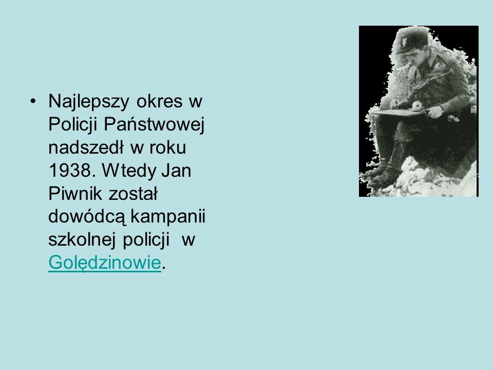 Najlepszy okres w Policji Państwowej nadszedł w roku 1938