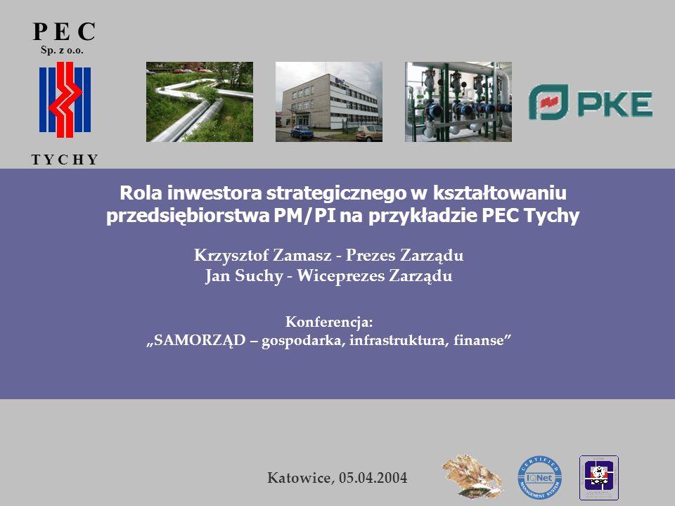 P E C Sp. z o.o. T Y C H Y. Rola inwestora strategicznego w kształtowaniu przedsiębiorstwa PM/PI na przykładzie PEC Tychy.