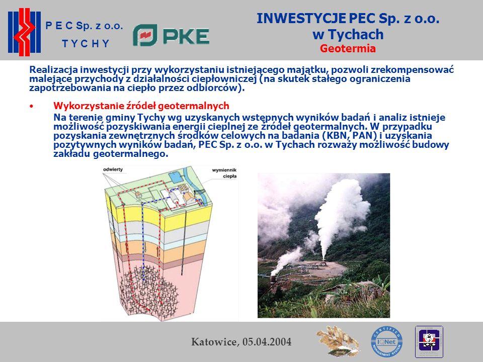 INWESTYCJE PEC Sp. z o.o. w Tychach Geotermia