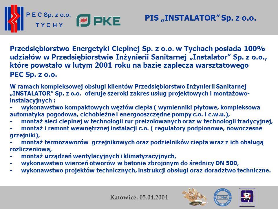 """PIS """"INSTALATOR Sp. z o.o."""
