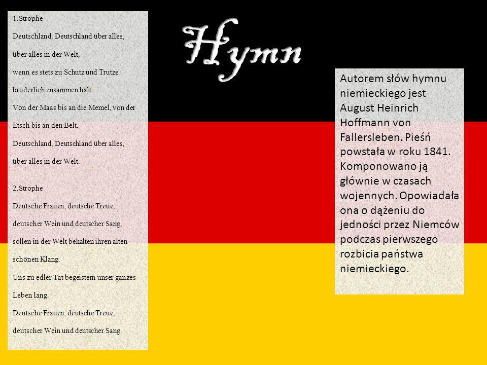 1.Strophe Deutschland, Deutschland über alles,