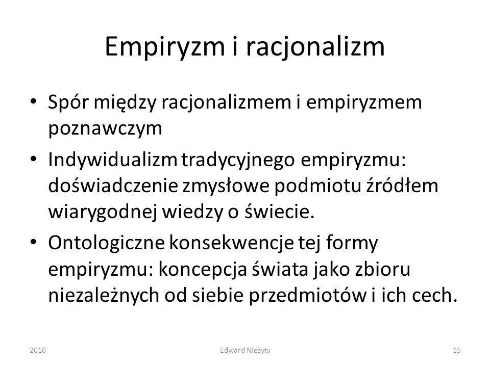 Empiryzm i racjonalizm