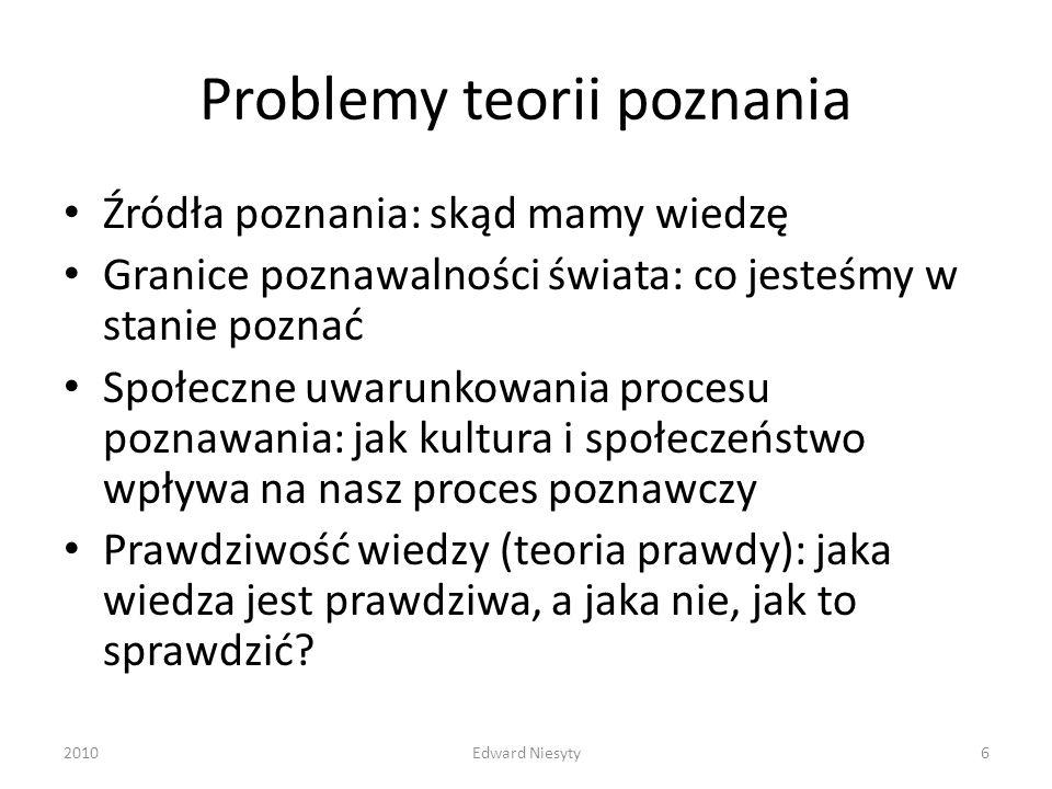 Problemy teorii poznania