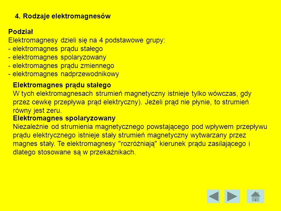 4. Rodzaje elektromagnesów