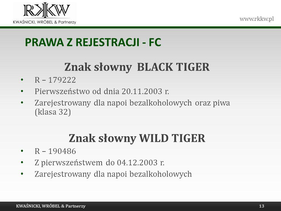 Prawa z rejestracji - FC