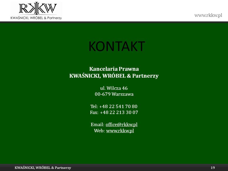 Tytuł prezentacji hfghgfhfg KWAŚNICKI, WRÓBEL & Partnerzy KWAŚNICKI, WRÓBEL & Partnerzy