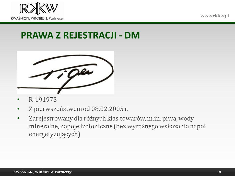 Prawa z rejestracji - dm