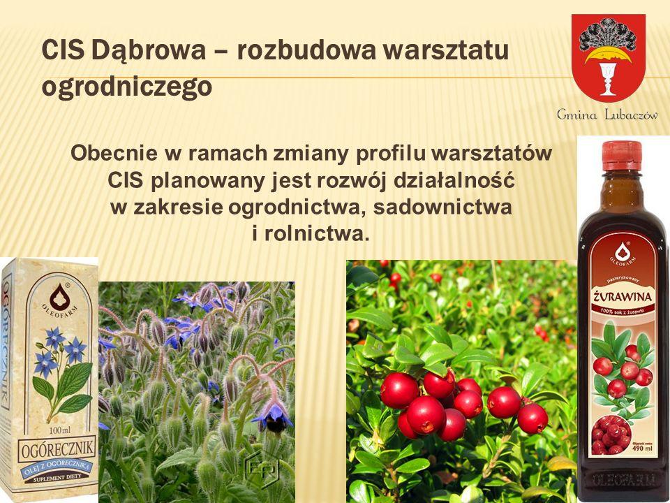 CIS Dąbrowa – rozbudowa warsztatu ogrodniczego