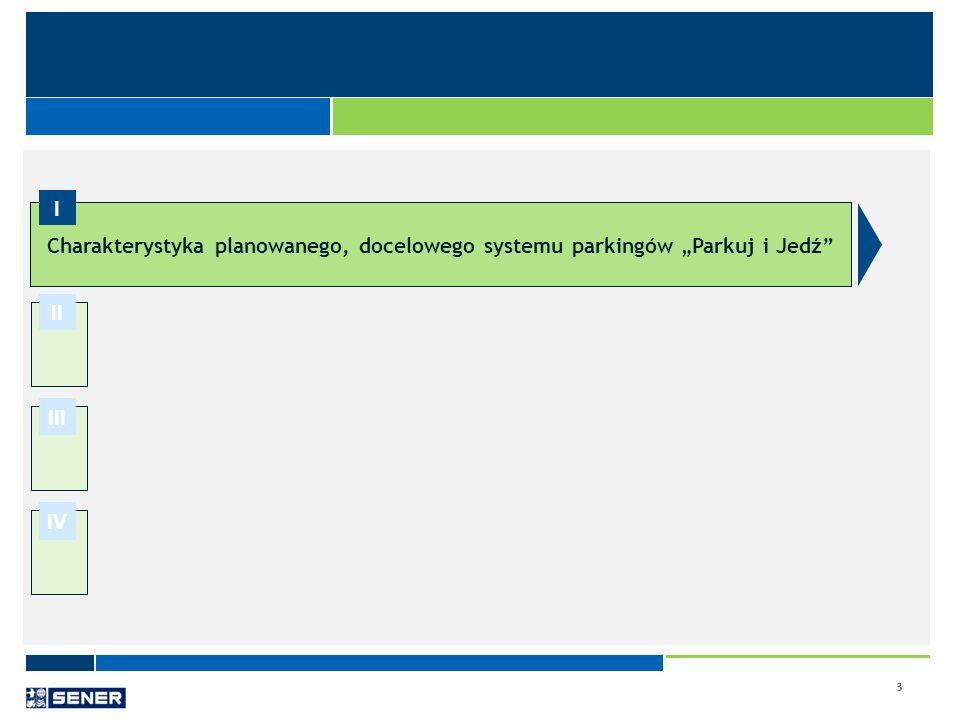 """Charakterystyka planowanego, docelowego systemu parkingów """"Parkuj i Jedź"""